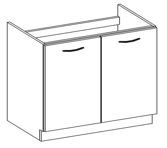 Spodní skříňka pod dřez 80 2F ARTISAN CAPPUCCINO lesk/ dub artisan  - 2