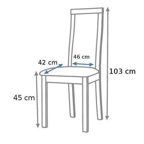 Jídelní sestava, stůl S12 a židle K24  - 2
