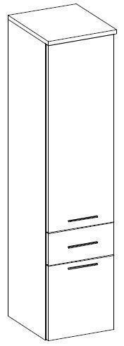 Koupelnová závěsná skříňka vysoká TRTR 11  - 2