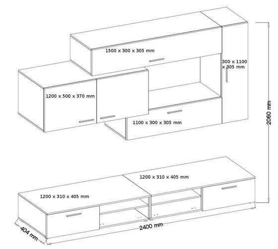 Obývací stěna JIVE  - 2