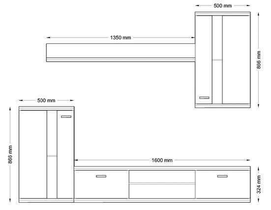 Obývací stěna LIFE - SAN REMO SVĚTLÉ  - 2