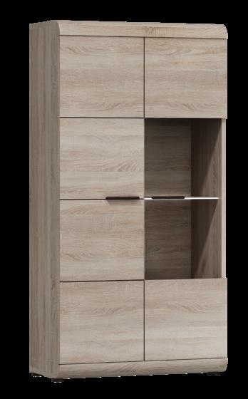 Obývací stěna LINK, dub sonoma  - 2