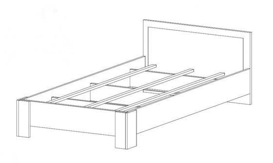 Moderní postel do ložnice 160 LUCCA bílé kvalitní lamino  - 2