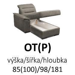 Sedací souprava EXCELENT  OT(P)-2F-R-1-BR-1E(L) - 2/8