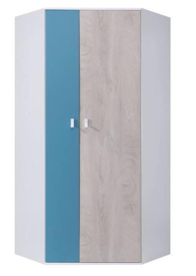 Nábytková sestava A | PLANET bílá, dub, modrá  - 2
