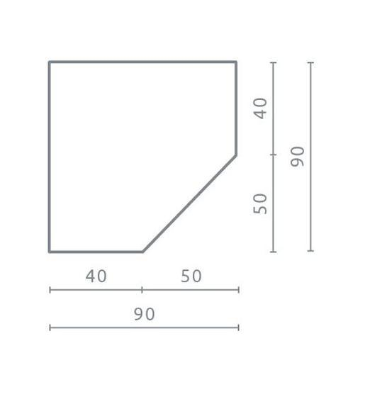 Rohová skříň PL2 | Planet, bílá  - 2