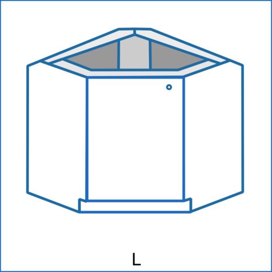 Dolní rohová skříňka zkosená REMI  - 2