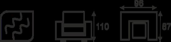 Taburet ROCKY - vzorník sk. V - 2