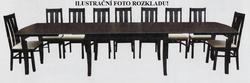 Rozkládací stůl S14 MDF 160x100 (+4x55) cm - 2/2