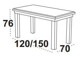 Stůl jídelní rozkládací MAX 4 S - kaštan  - 2