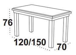 Stůl jídelní rozkládací MAX 4 S - kaštan - 2/2