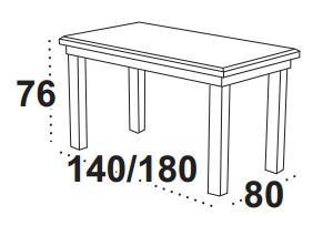 Stůl jídelní rozkládací WENUS 2 L - olše  - 2