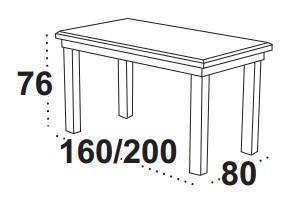 Stůl jídelní rozkládací WENUS 1 - ořech  - 2