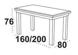 Stůl jídelní rozkládací WENUS 1 - ořech - 2/3