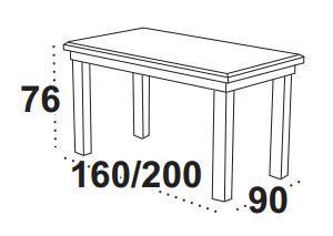 Stůl jídelní rozkládací LUDWIK I  - 2