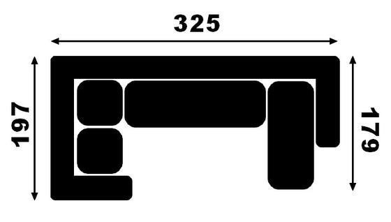 Sedací souprava JAZZ UP-2F-OT  - 2
