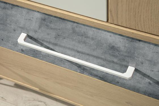 Komoda STEP ST-6 dub piškotový /bílýlux /beton  - 2