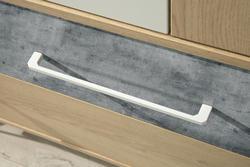Komoda STEP ST-6 dub piškotový /bílýlux /beton - 2/5