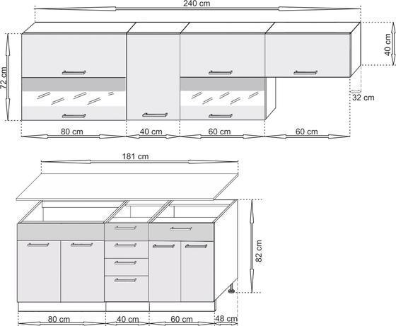 Kuchyňská linka SCASI 180+60 cm  - 2