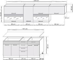 Kuchyňská linka SCASI 180+60 cm - 2/2
