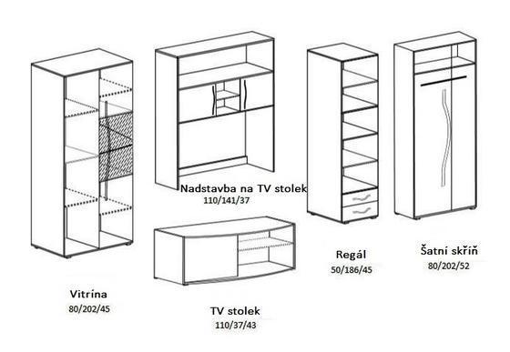 Obývací stěna VERDI  - 2
