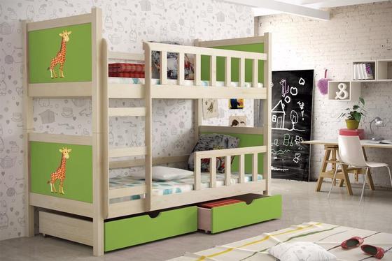 Dětská patrová postel PINOKIO 2  přírodní  - 3