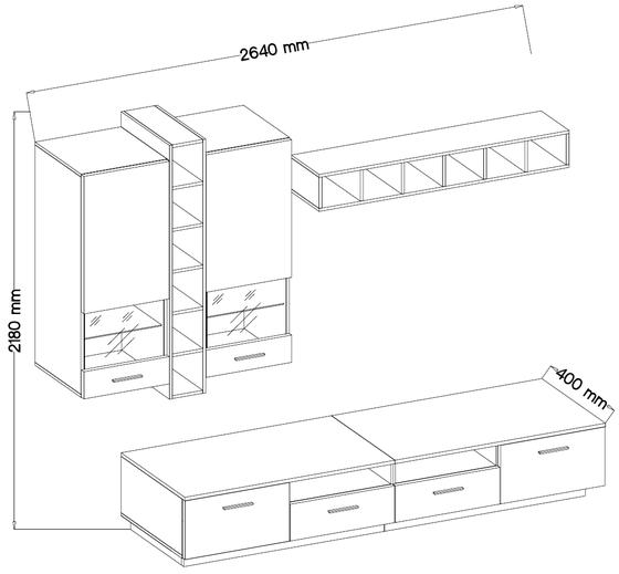 Obývací stěna FLEXI  - 3