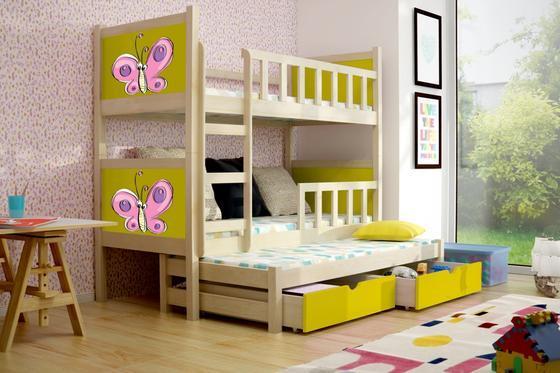 Dětská patrová postel PINOKIO 3 přírodní  - 3