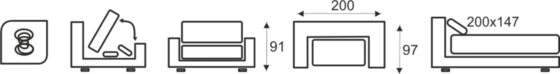 Pohovka MATIS - vzorník sk. IV - 3