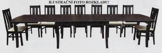 Rozkládací stůl S12 přírodní dýha 90x90(+4x50) cm  - 3
