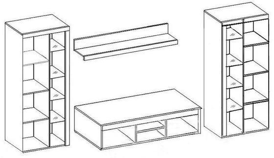 Obývací stěna RUMBA XL, bílá  - 3