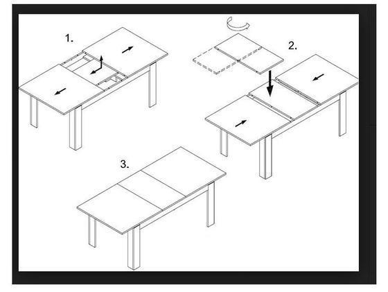Rozkládací stůl S12 přírodní dýha 90x90(+2x50) cm  - 3