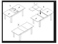 Rozkládací stůl S12 přírodní dýha 90x90(+2x50) cm - 3/3