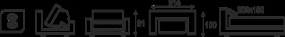 Pohovka SIMON - vzorník sk. VI - 3