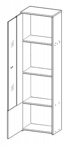 Obývácí stěna HUGO, bílá  - 3