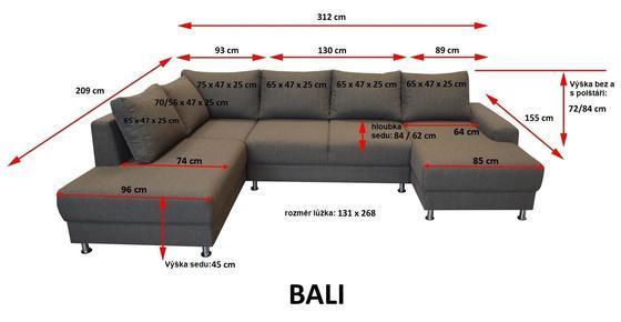 Sedací souprava BALI U  - 4