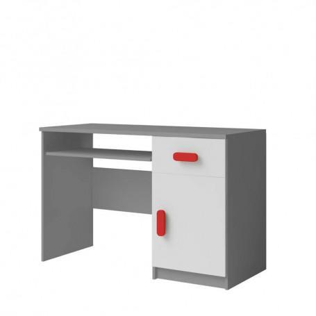 Studentský pokoj Ariela psací stůl 110 šedý bílý  - 4