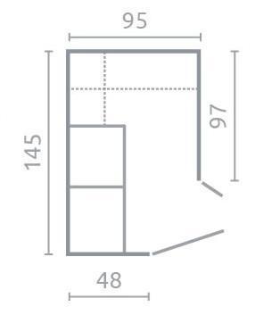 Skříň rohová NA1 | Nano, enigma  - 4