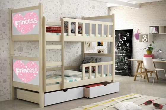 Dětská patrová postel PINOKIO 2  přírodní  - 4