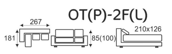Sedací souprava EXCELENT  OT(P)-2F(L)  - 4