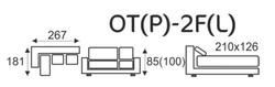 Sedací souprava EXCELENT  OT(P)-2F(L) - 4/4