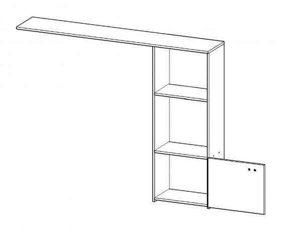 Obývácí stěna HUGO, bílá  - 4
