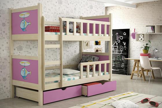 Dětská patrová postel PINOKIO 2  přírodní  - 5