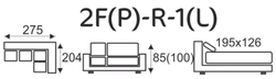Sedací souprava EXCELENT 2F(P)-R-1(L) - 5/5