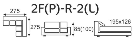 Sedací souprava EXCELENT 2F(P)-R-2(L)  - 5
