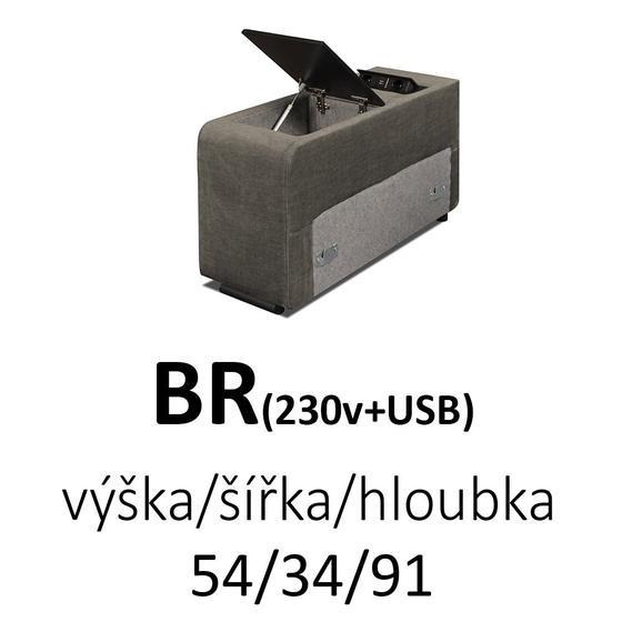 Sedací souprava EXCELENT  OT(P)-2F-R-1-BR-1E(L)  - 6