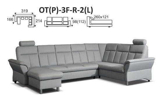 Sedací souprava THEA OT+3F+R+2 - vzorník sk. VI - 6