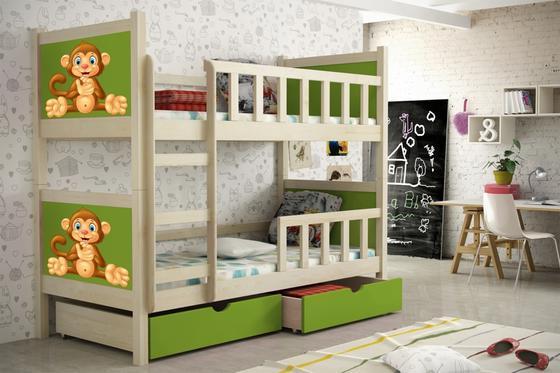 Dětská patrová postel PINOKIO 2  přírodní  - 6