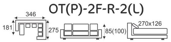 Sedací souprava EXCELENT OT(P)-2F-R-2(L)  - 6