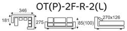 Sedací souprava EXCELENT OT(P)-2F-R-2(L) - 6/6